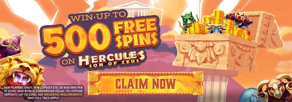 screenshot zeus bingo casino bonus
