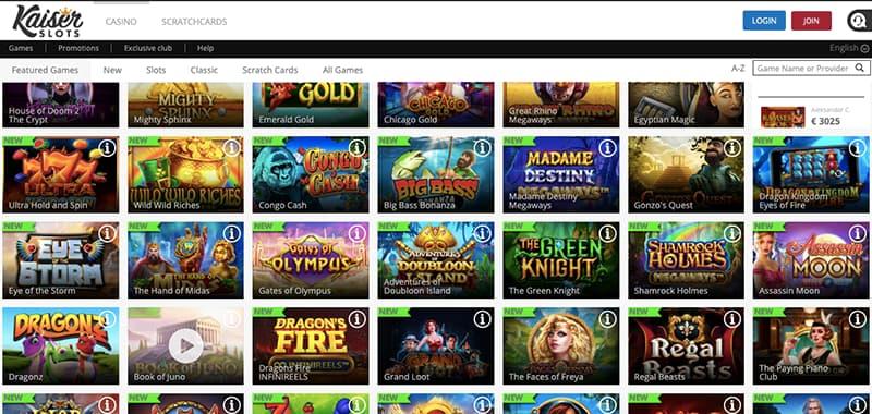 kaiser slot casino games screenshot