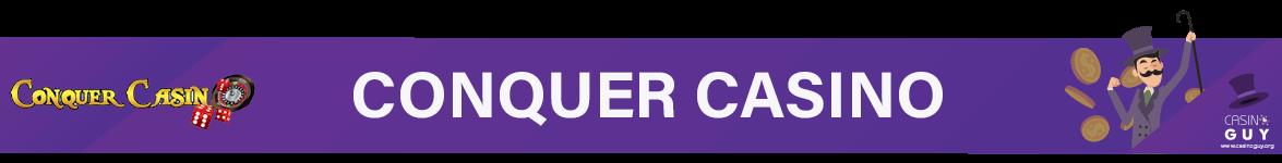 conquer casino banner