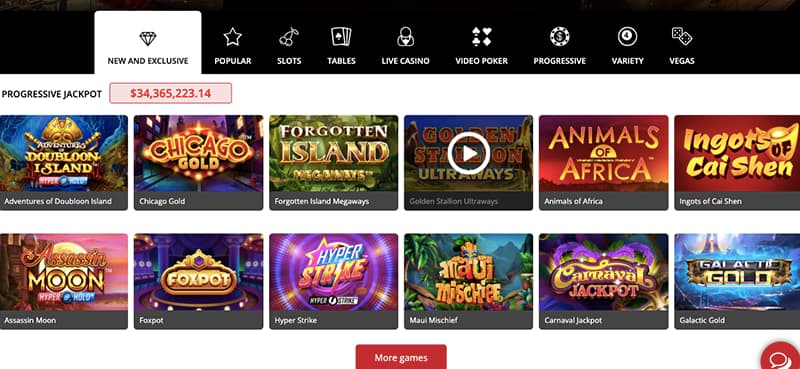 royal vegas casino games screenshot
