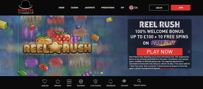 schmitts casino screenshot interface