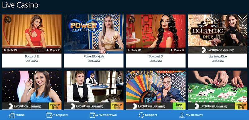 screenshot live casino fun casino