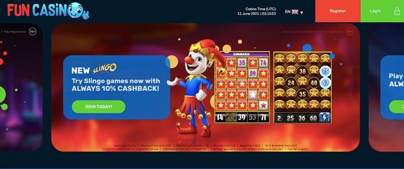 screenshot fun casino interface
